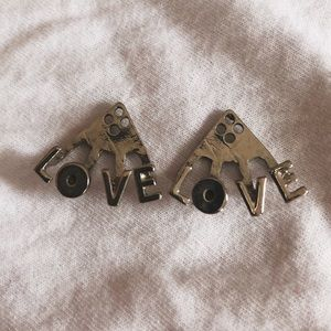 Dolls Kill Silver LOVE Ear Jackets